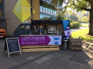Guerrilla Marketing Coffee Van Promotion for Student Acquisition University of Law