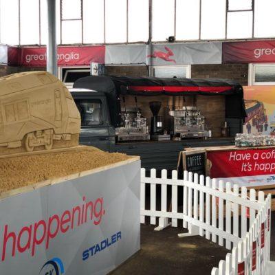 Greater Anglia train launch Coffee Van