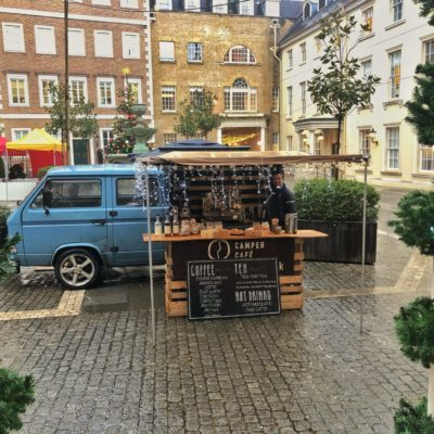 ebay Coffee Van at office Christmas Party