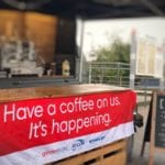 Branded Coffee Van Greater Anglia