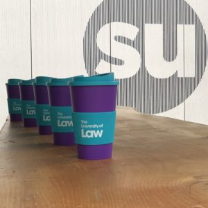University of Law branded cups by Camper Cafe